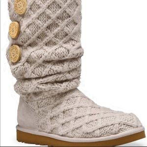 UGG Cream Lattice Cardy foldover boot